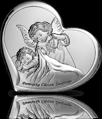 Aniołek z latarenką: obrazek srebrny - Beltrami