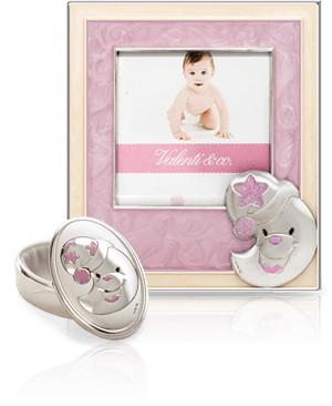 Ramka + pudełko na pierwszy ząbek: dla dziewczynki - Valenti & Co