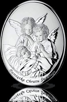 Anioł Stróż: obrazek srebrny - MIDA  Argenti