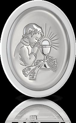 Pamiątka dla chłopca: obrazek srebrny - Belcom