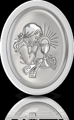 Pamiątka dla dziewczynki: obrazek srebrny - Belcom