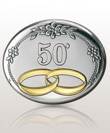 Obrączki Złote Gody: obrazek srebrny - Valenti & Co