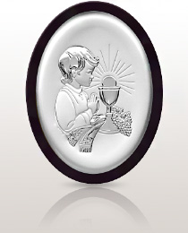 Pamiątka dla chłopca - obrazek srebrny