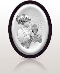 Pamiątka dla dziewczynki - obrazek srebrny
