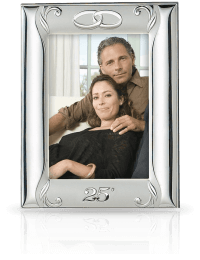 Srebrna ramka na zdjęcie: Pamiątka 25 Rocznicy Ślubu - Valenti & Co