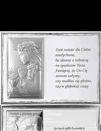 Pamiątka na Komunię dla dziewczynki: Panel z obrazkiem i modlitwą - Beltrami