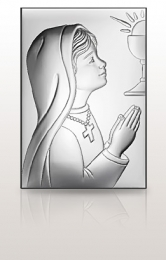 Pamiątka dla dziewczynki: obrazek srebrny - Valenti & Co
