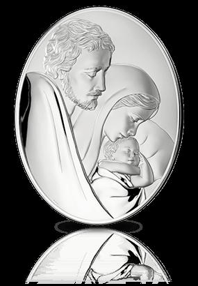 Święta Rodzina: obrazek srebrny - MIDA  Argenti