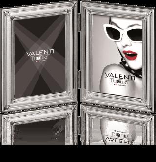 Podwójna ramka na zdjęcie: pokryta srebrem - Valenti & Co