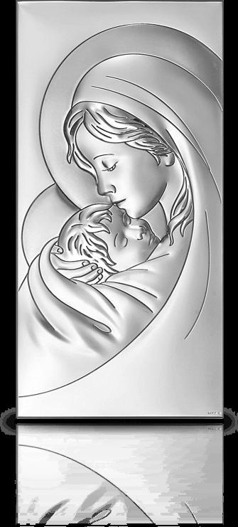 Wspaniały Matka Boska z dzieciątkiem: obrazek srebrny Beltrami (6381/2 MA48
