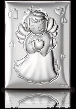 Aniołek: obrazek srebrny - Valenti & Co