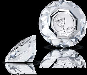 Srebrny obrazek w krysztale - Valenti & Co