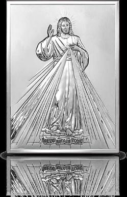 Jezu Ufam Tobie: obrazek srebrny - Belcom