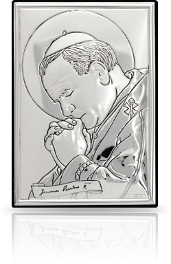 Jan Paweł II: obrazek srebrny - Belcom