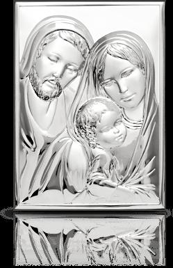 Święta Rodzina: obrazek srebrny - Belcom