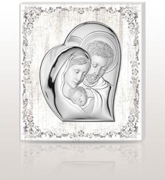 Święta Rodzina: obraz srebrny