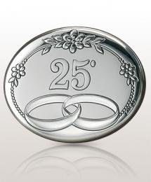 Obrączki Srebrne Gody: obrazek srebrny