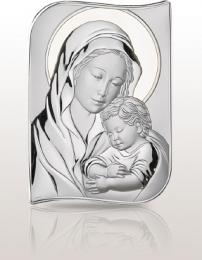 Matka Boska z Dzieciątkiem: obrazek srebrny