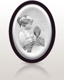Pamiątka dla dziewczynki: obrazek srebrny