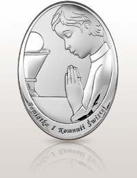 Pamiątka dla chłopca: obrazek srebrny