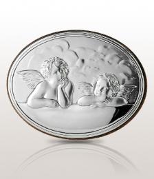 Aniołki: obrazek srebrny - Belcom