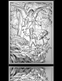 Anioł nad przepaścią: obrazek srebrny - Beltrami