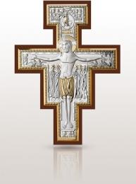 Krzyż św. Damiana: ze srebrnymi elementami