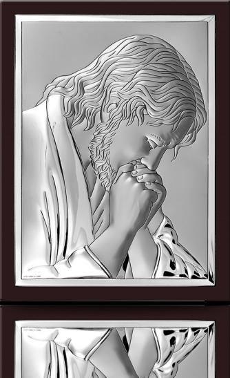 Jezus frasobliwy: obrazek srebrny - Beltrami