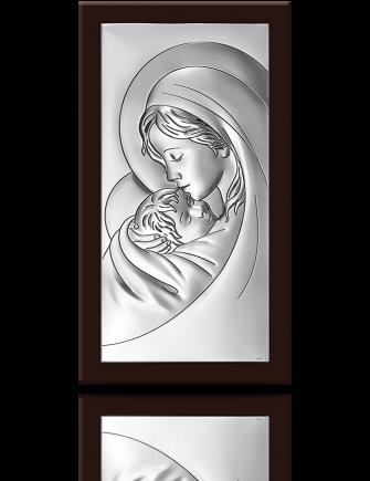 Matka Boska z dzieciątkiem: obrazek srebrny - Beltrami