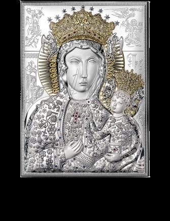 Matka Boska Częstochowska: srebrna ikona - Valenti & Co