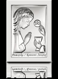 Obrazek na komunię dla dziewczynki: Pamiątka komunijna - Valenti & Co