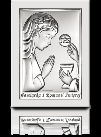 Obrazek na komunię dla dziewczynki: Pamiątka komunijna - Beltrami