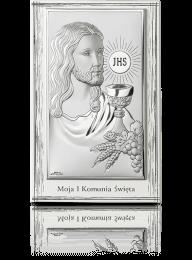 Jezus Chrystus nad Hostią: obrazek srebrny - Beltrami