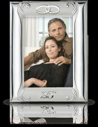 Srebrna ramka na zdjęcie: Pamiątka 25 Rocznicy Ślubu