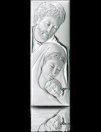 Święta Rodzina: obrazek srebrny