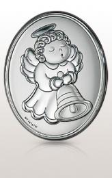 Aniołek: obrazek srebrny