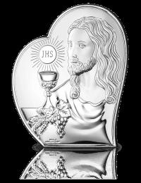 Prezent komunijny dla dziecka: Obrazek srebrny z grawerem