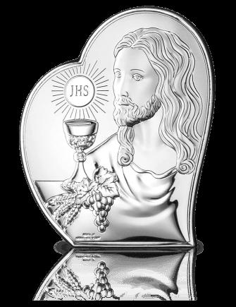 Prezent komunijny dla dziecka: Obrazek srebrny z grawerem - Valenti & Co
