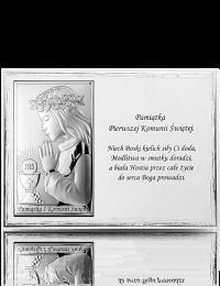 Pamiątka na Komunię dla dziewczynki: Panel z obrazkiem i modlitwą