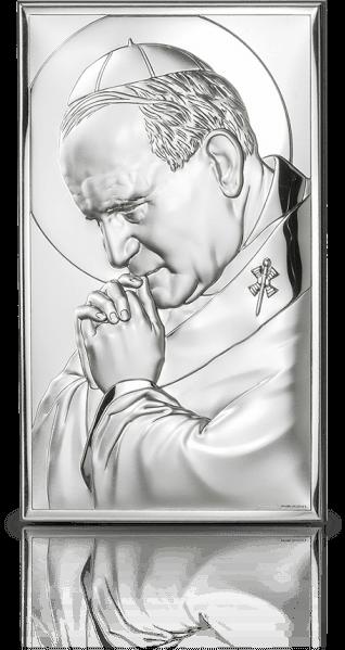 Jan Paweł II: obrazek srebrny - Valenti & Co