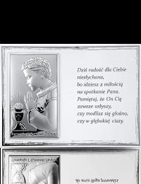 Pamiątka na Komunię dla chłopca: Panel z obrazkiem i modlitwą