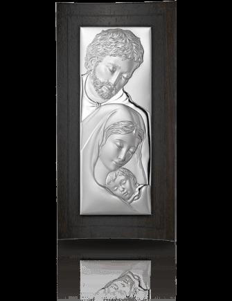 Święta Rodzina: obrazek srebrny na drewnie - Valenti & Co