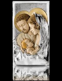 Święta Rodzina: obraz przestrzenny ze srebrem - Valenti & Co