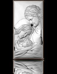 Święta Rodzina - obrazek srebrny