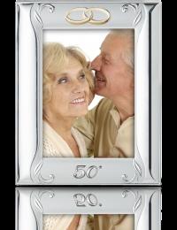 Srebrna ramka na zdjęcie: Pamiątka 50 Rocznicy Ślubu - Valenti & Co