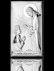 Pamiątka komunijna dla Chłopca - obrazek srebrny