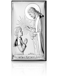 Pamiątka komunijna dla Chłopca: obrazek srebrny - Valenti & Co