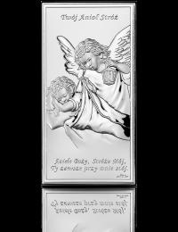 Anioł Stróż: obrazek srebrny