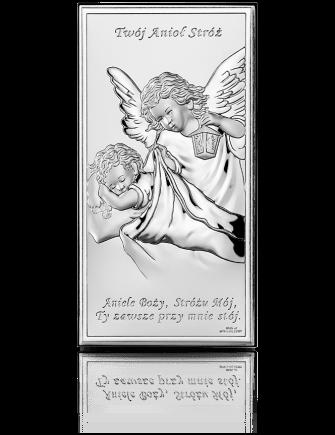 Anioł Stróż: obrazek srebrny - Beltrami