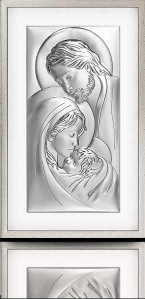 Święta Rodzina: obraz srebrny w ramie za szkłem - Beltrami